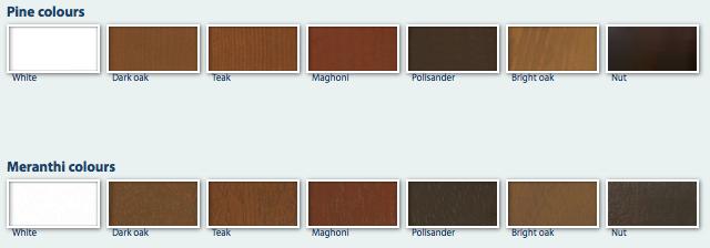 Trä färger